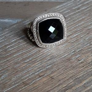 David Yurman Albion 14mm Black Onyx Diamond Ring